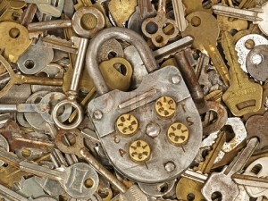 Old lock and keys.