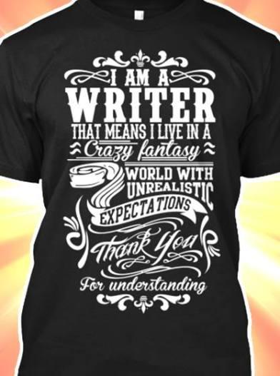 1 am writer t shirt